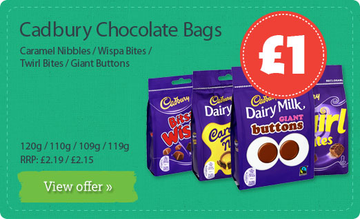 Cadbury Chocolate Bags
