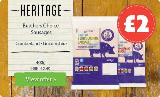 Heritage Butchers Choice Sausages