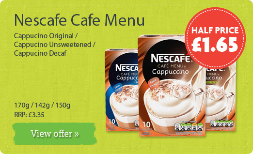 Nescafe Cafe Menu